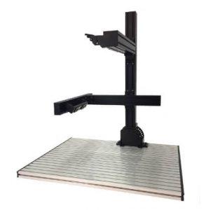 NIC(エヌアイシーオートテック)アルミフレーム仕様を選択した7560画像処理・外観検査作業台(ベースプレート)。開発販売は画像処理環境ドットコム