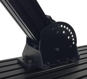 ミスミ・SUSアルミフレーム角度固定、角度調整、主柱傾斜参考