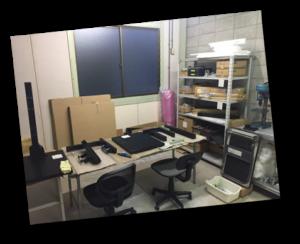 作業場所風景。制作場所