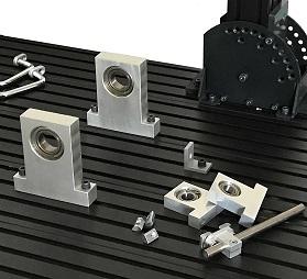 画像処理装置、搬送装置、検査装置の機材・部材・ブラケット・アーム固定、自由な位置に固定できるベース盤ステージ。