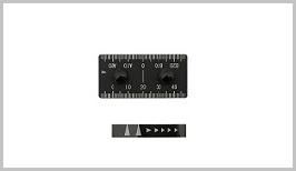 FLEX7560、FLEX6048用オプション製品。縦設置スケール(目盛り)